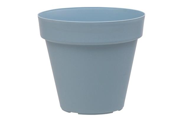 Vaso Redondo em Polipropileno Sampa 14x13cm Azul Vintage - Brilia