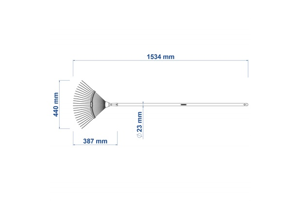 Vassoura Metálica 22 Dentes com Cabo 120cm - Tramontina