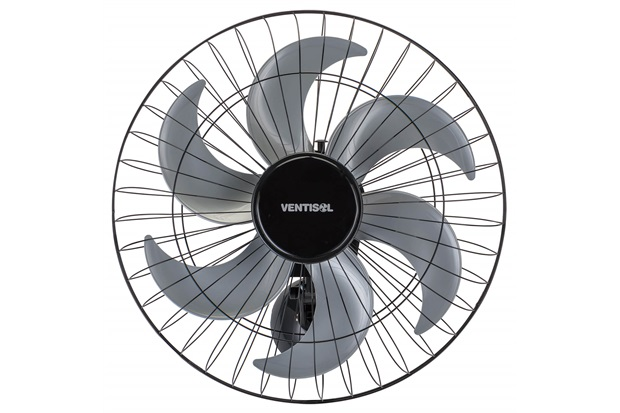Ventilador de Parede 200w Bivolt Steel 50cm Preto E Cinza - Ventisol