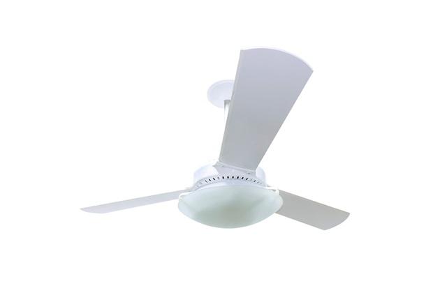 Ventilador de Teto 130w 110v Zenys Pali com 3 Pás Branco - Spirit