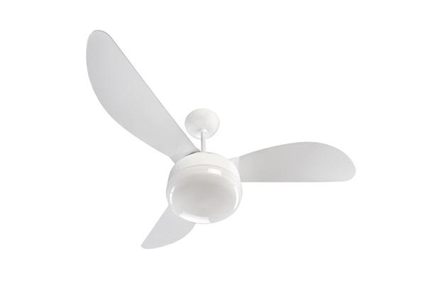Ventilador de Teto com Luminária 130w 110v Fênix com 3 Pás Branco - Ventisol