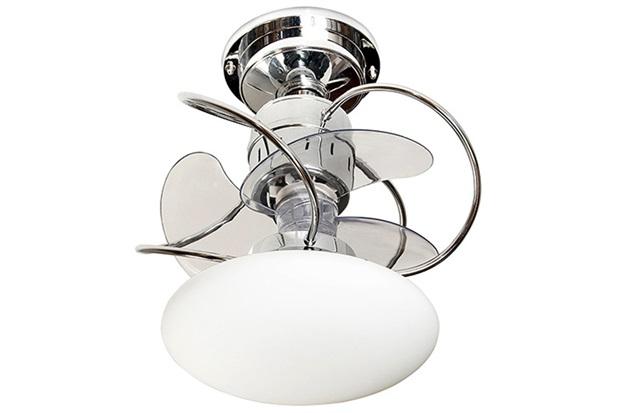 Ventilador de Teto com Luminária 149,5w Bivolt Atenas com Controle Remoto Cromado  - Treviso