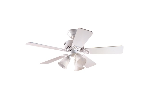 Ventilador de Teto com Luminária 63w 220v Beacon Hill com 5 Pás Branco - Hunter Fan