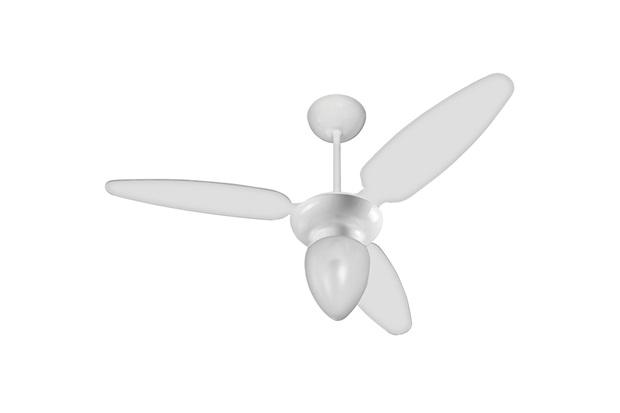 Ventilador de Teto com Lustre Ibiza 130w 110v Branco - Casanova