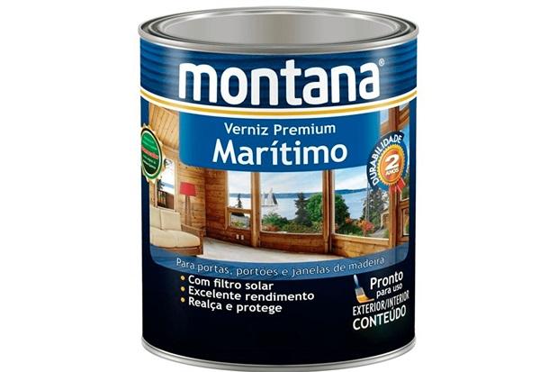 Verniz Marítimo Acetinado Natural 900ml - Montana