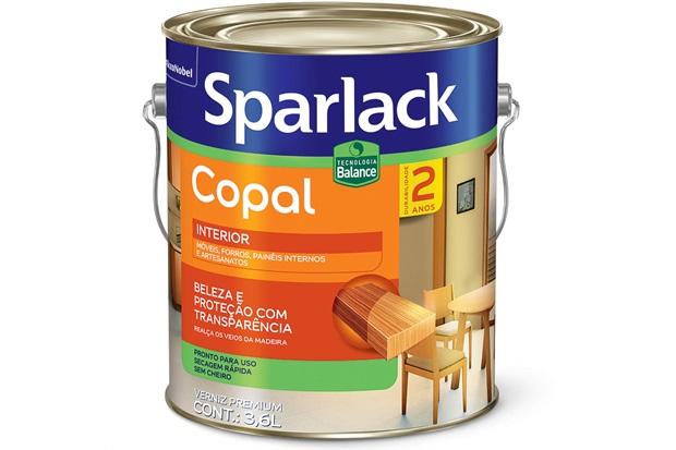 Verniz Premium Copal Brilhante Transparente 3,6 Litros - Sparlack