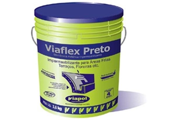 Viaflex Preto Galão 3,6 Litros - Viapol