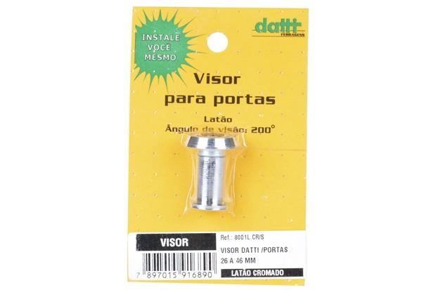 Visor de Porta Cromo Cromado 8001 - Datti