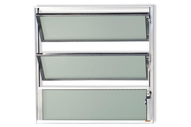Vitrô Basculante com Vidro em Alumínio Master 40x60cm Brilhante - Brimak