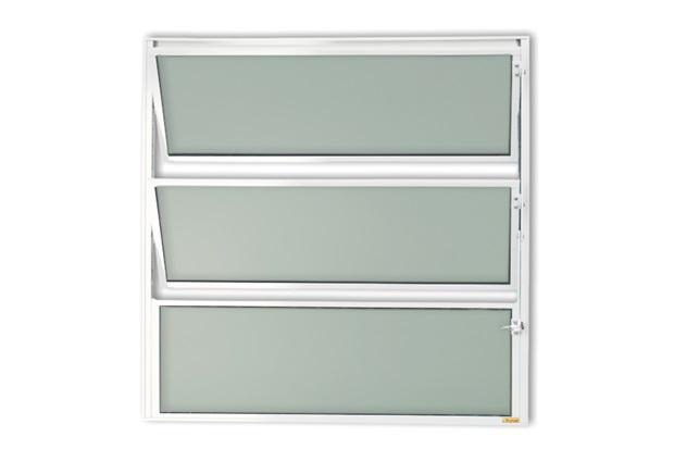 Vitrô Basculante com Vidro em Alumínio Master 60x60cm Branca - Brimak