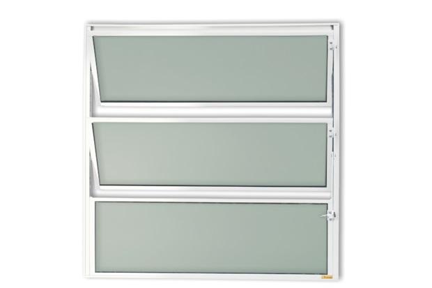 Vitrô Basculante com Vidro em Alumínio Master 80x40cm Branca - Brimak