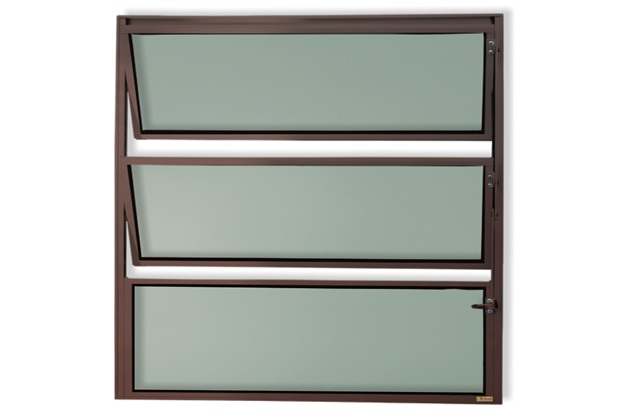 Vitrô Basculante com Vidro em Alumínio Master 80x40cm Cortem - Brimak