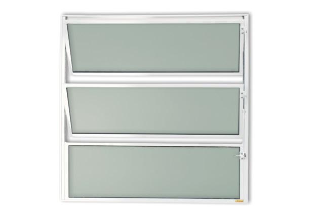 Vitrô Basculante com Vidro em Alumínio Master 80x60cm Branca - Brimak