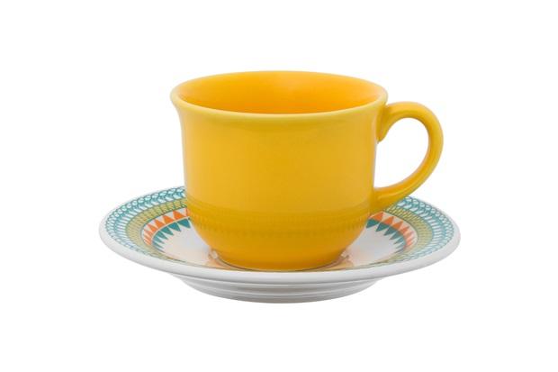 Xícara de Café de 65 Ml com Pires 12cm Daily Bilro - Oxford