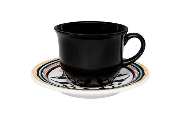 Xícara de Chá com Pires Floreal Luiza 200ml - Oxford